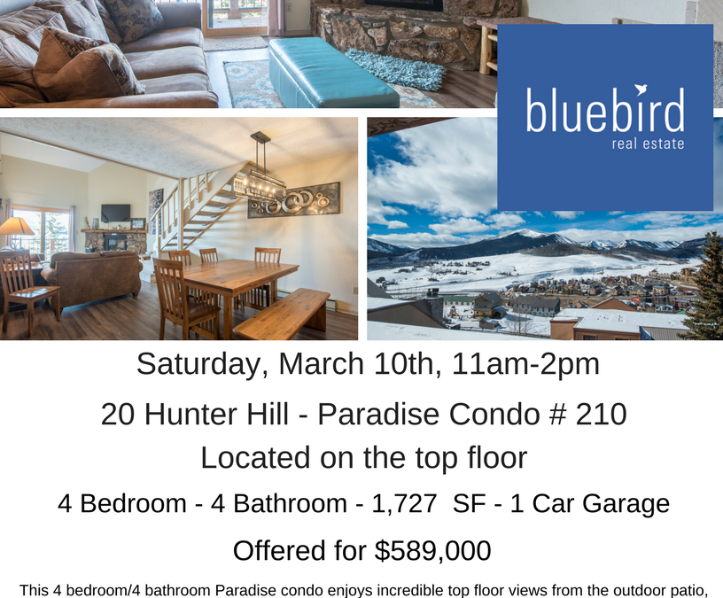 Open House at Paradise Condo # 210 – Saturday, March 10th